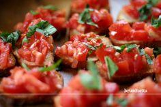 Bruschetta. Easy appetizer food.