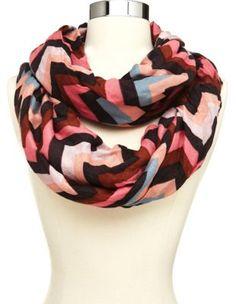 chevron stripe infinity scarf