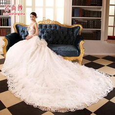 Buy 'MSSBridal – Sleeveless Lace Wedding Ball Gown with Train' with Free International Shipping at YesStyle.com. Browse and shop for thousands of Asian fashion items from China and more!