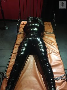 Intensive rubberisation - eventually the slave will only remember an existence in rubber bondage
