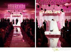 Love the Chuppah and reflection in the aisle