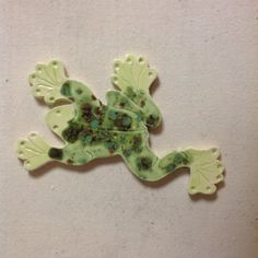 Swimming Water Frog Ceramic Tile by TilesByGavazzi on Etsy, $12.00