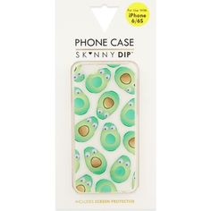 Introduce Skinnydip's irreverent charm to your technology with this dynamic iPhone 6 case. Decorated with googly-eyed avocados, this funky piece will add a sense of fun and mischief to your accessories. Skinnydip London, Cute Phone Cases, Screen Protector, Tech Accessories, Iphone Case Covers, Iphone 6, Apple Iphone, Dips, Pattern