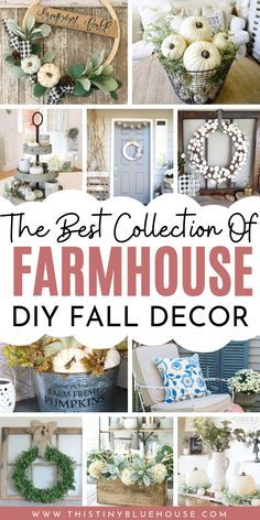 60 Ultimate Best DIY Farmhouse Fall Decor Ideas - This Tiny Blue House - - Add some rustic farmhouse charm to your home this fall with these DIY farmhouse fall decor ideas. Over 50 gorgeous fall decor ideas to glam up your home. Fal Decor, Fall Home Decor, Farmhouse Style Decorating, Farmhouse Decor, Farmhouse Ideas, Country Farmhouse, Farmhouse Interior, Kitchen Interior, Cool Diy