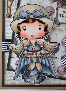 La-La Land Crafts Steampunk Marci! Copics: Skin: E000, E00, E01, E02, E11 Hair: E44, E47, E49 Hat/Jacket/Top of Skirt/Leggings: E41, E42, E43, E44  Black: N2, C5, C7, Black Red: R39