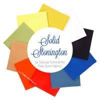 Solid Stonington Fat Quarter Bundle Denyse Schmidt for Free Spirit Fabrics