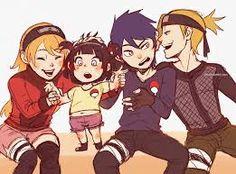 From left to right: Uzumaki Sayuri (NaruSaku), Uchiha Hitomi (SasuHina), Uchiha Sanada (SasuHina) and Nara Shikake (ShikaTema) I know canon happened and all, but that doesn't stop me to love SasuHina Boruto, Naruko Uzumaki, Sasuhina, Narusaku, Hinata Hyuga, Naruto Shippudden, Naruto Girls, Naruto Gaiden, Kakashi