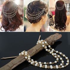 Buy Chooz Designer Studio New Imported Pearl Bead Head Chain Jewelry Head Band Hair Piece Hair Band Dress Bridal Gold With Box Online at Low Prices in India   Amazon Jewellery Store - Amazon.in