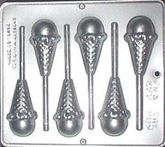 Ice Cream Cone Lollipop Chocolate Candy Mold by CandyMoldsNMore, $2.40