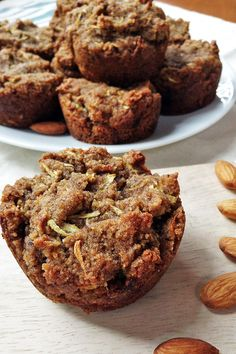 These gluten free, egg free, dairy free, yeast free zucchini muffins are super easy to make and taste so wonderful.