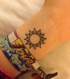 simple sun tattoo - Google Search