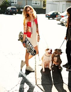 Going to the skate park with bea, her dog, me , and my dog ~Jake
