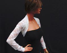 Ivory lace Shrug bolero jacket bridal shrug bridal accessories wedding jacket bolero SSL-IV on Etsy, $39.00