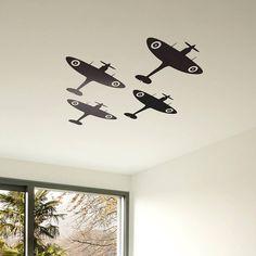 spitfire vinyl wall sticker by oakdene designs | notonthehighstreet.com