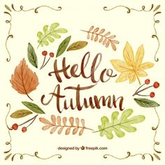 Autumn has already arrived to Freepik and we celebrate this new season with an awesome watercolor vector pack, totally free. Watercolor Lettering, Watercolor Leaves, Autumn Art, Autumn Theme, Fall Cards, Winter Cards, Cumpleaños Diy, Kawaii Doodles, Hello Autumn