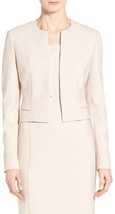 BOSS HUGO BOSS 'Jiopela' Crop Ponte Suit Jacket