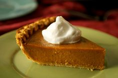 Pumpkin pie. My mom makes the absolute best. When there's some in the refrigerator, I eat it (li. ter. a. lly.) for breakfast, lunch, and dinner.