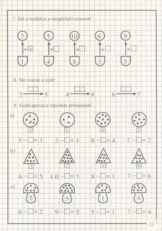művelet-műveletre_1 - Kiss Virág - Picasa Web Albums Math Worksheets, Crafts For Kids, Preschool, Student, Album, Teaching, Education, Rolodex, Grid