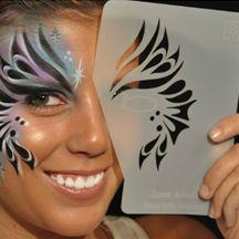 7 Type Reusable Body Art Face Paint Painting Stencil Makeup Stencil Template