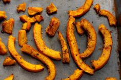 Roasted Pumpkin Fries~Pumpkin roasted fries can replace those potatoes if you are on a low carb diet! You can also make a sweet healthy Treat by using Cinnamon and sugar as the coating, before baking!