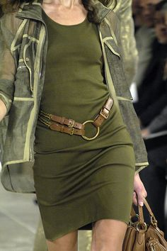 Ralph Lauren Spring i like this dress and the color with brown belt pops :)
