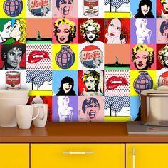 Adesivo de parede Pop Art 3