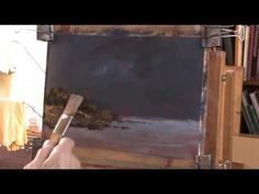 How to paint an impressionist rocky coast scene in acrylic - YouTube