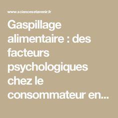 Gaspillage alimentaire : des facteurs psychologiques chez le consommateur en cause - Sciencesetavenir.fr