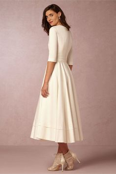 It is a kind of dresses which highlights your elegant and graceful quality from inside. The pure white color makes it so attractive. The big pleated hem of this
