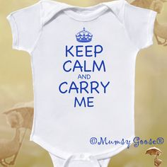 Funny Baby Boy Onesie Keep Calm Onesie Infant tees
