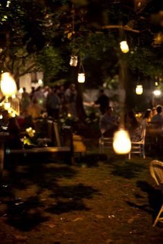 outdoor evening party