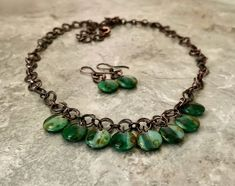 Handmade Necklaces, Handmade Items, Glass Centerpieces, Small Earrings, Glass Necklace, Metal Jewelry, Czech Glass, Necklace Lengths, Dangles