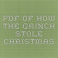 pdf of How the Grinch Stole Christmas