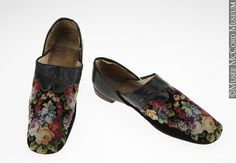 Man's Slippers 1860s The McCord Museum