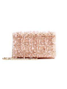 Soft Pink Embroidered Satin DeDe Bag