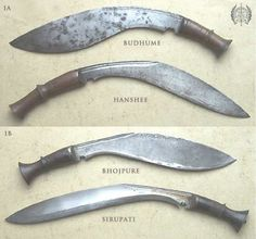 Kukhri forms. It is said that, even today, if a soldier removies his kukhri from its sheath then he has to draw blood.
