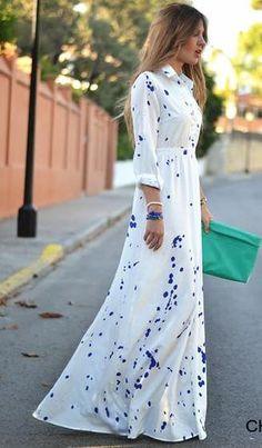 Paint Splatter Maxi Dress