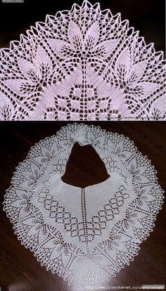 Arm Knitting, Knitting Stitches, Knitting Designs, Knitting Patterns, Crochet Patterns, Crochet Shawls And Wraps, Knitted Shawls, Lace Patterns, Stitch Patterns