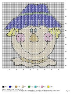 HAPPY SCARECROW FACE by JODY -- WALL HANGING 2/2