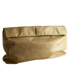 Marie Turnor - Brown Paper Bag Clutch - Loving the foldover brown paper bag totes & clutches.