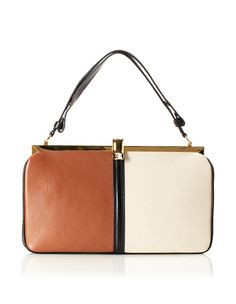 0% OFF MARNI Women's Bi-Color Frame Bag, Rust/Glass