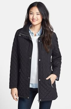 Calvin Klein Hooded Quilted Jacket available at #Nordstrom