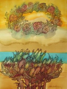"""The Tree of Life #19, 2012. Watercolor and ink on paper,18""""x24"""""""