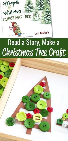 Christmas craft for kids to make and book extension activity for Maple & Willow's Christmas tree -- all in one. Or you can set it up as a Christmas tree themed invitation to play.