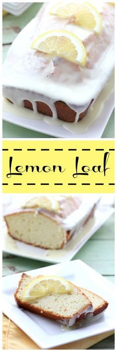 Lemon Loaf  by Noshing With The Nolands - A moist lemon cake recipe that's bursting with citrus flavor and topped with a sweet glaze.
