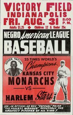 Vintage Negro League Poster