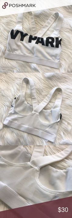 IVY PARK b/w sports bra Only worn once, perfect condition Ivy Park Intimates & Sleepwear Bras