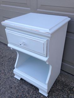 Cheerful blue nightstand, painted and distressed