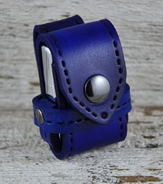 Zippo Lighter Denim Blue Leather Belt Case by Northernleather, $26.95