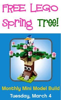 FREE LEGO Spring Tree! #legos